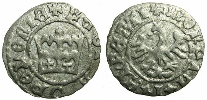 Ancient Coins - POLAND.Jan Olbracht ( Johann Albert ) AD 1492-1501.AR.Half Groschen.N.D.