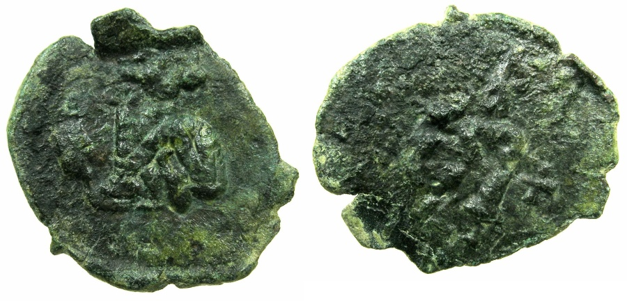 Ancient Coins - BYZANTINE EMPIRE.SICILY.Justinian II 1st reign AD 685-695.AE.Follis.Mint of SYRACUSE.