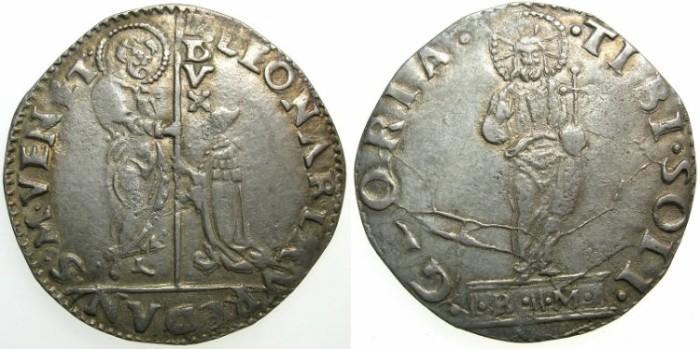 Ancient Coins - ITALY.VENICE.Leonardo Loredan AD 1501-1521.AR.Mocenigo.~#~Assayer Bartolomio Morosini.