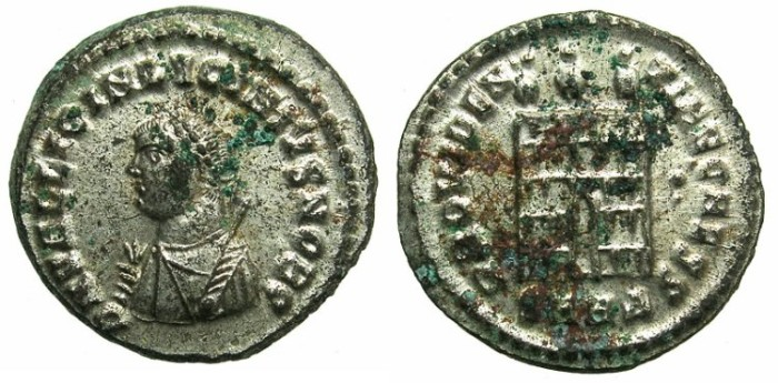Ancient Coins - ROMAN.Lucinius II  Caesar AD 317-324.AE.Follis..Mint of HERACLEA.Full silvering
