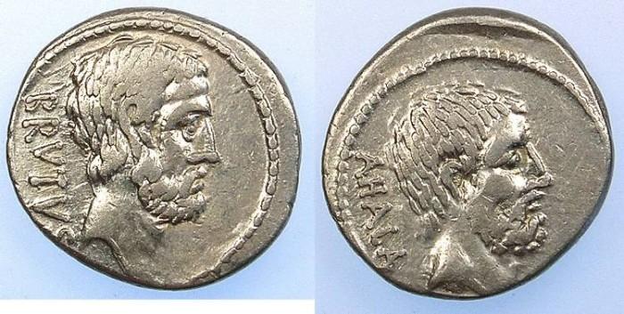 Ancient Coins - Rome Republic  M.Junius Brutus ( Q.Servillius Caepio Brutus ) AR.Denarius