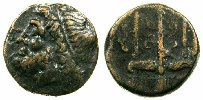 Ancient Coins - SICILY.SYRACUSE.Hieron II 274-216 BC.AE.18mm.