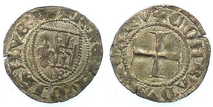 Ancient Coins - ITALY.GENOA.Carlo VI of France 1396-1409, Lord of Genoa.AR.Petachina ( or sesino )