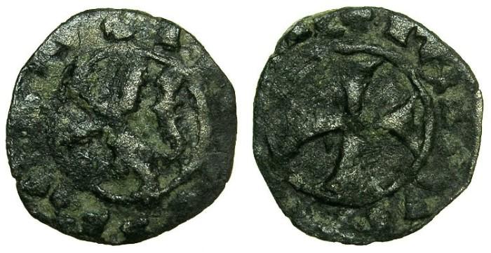 World Coins - CRUSADER STATES.CYPRUS.James I  AD 1382- 1398.Billon Denier.