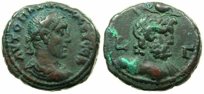 Ancient Coins - EGYPT.ALEXANDRIA.Maximinus  AD 235-238.Billon Tetradrachm, struck AD 236/37.~#~Bust of Ammon.