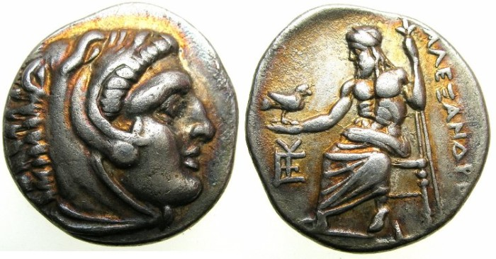 Ancient Coins - MACEDON.Alexander III The Great 336-323 BC.AR.Drachma struck C.323-319BC.Mint of SARDES