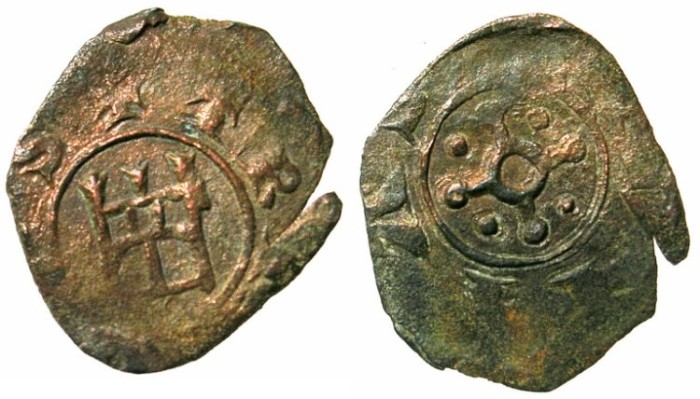 Ancient Coins - CRUSADER.TRIPOLI.Bohemond IV or V Circa  AD 1233-52-75.AE.Fraction.Type 6