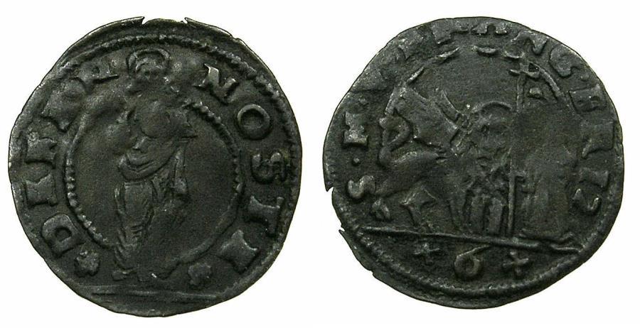 World Coins - VENICE.Francesco Erizzo AD 1631-1646.AE.Bezzo da 6 Bagattini.N.D.