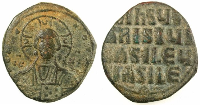 Ancient Coins - BYZANTINE EMPIRE.Anonymous Follis.class A3.Mint of Constantinople