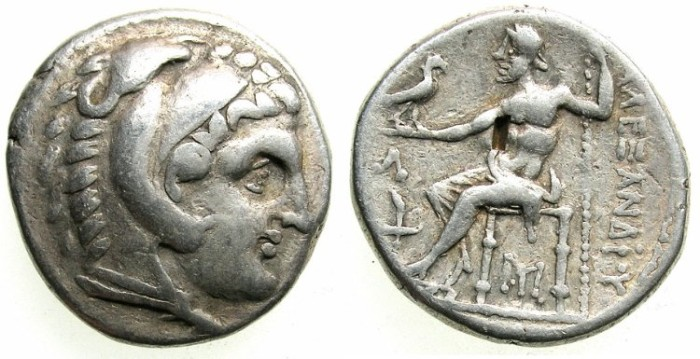 Ancient Coins - CELTIC.Lower Danube.Thraco-Getae.AR.Tetradrachm.3rd cent BC.After issue of Alexander The Great, Amphipolis mint.