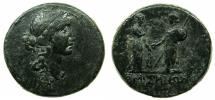 Ancient Coins - PONTUS.AMISOS.Time of Augustus 27BC- AD 14.AE.26.9mm. Obv. Female head right, Amisos? Reverse. Amisos and Roma.