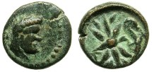 Ancient Coins - PISIDIA.SELGE.2nd - 1st Cent.BC.AE.13.Herakles.Thunderbolt.