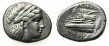 Ancient Coins - BITHYNIA.KIOS ( CIUS ).Circa 350-300 BC.AR.Hemidrachm.Magistrate:Lynoklis.