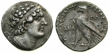 Ancient Coins - PTOLEMAIC EMPIRE.CYPRUS. Ptolemy VI 180-145BC, 2nd sold reign 163-145 BC.AR.Tetradachm, regnal year 24 (158/7 B.C).Mint of PAPHOS. ****RARE REGNAL YEAR ****