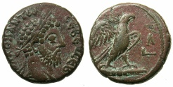 Ancient Coins - EGYPT.ALEXANDRIA.Commodus AD 180-192.Billon Tetradrachma, struck AD 189/90.~#~.Eagle standing on thunderbolt.