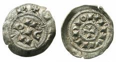 World Coins - ITALY.MILAN.Enrico III, IV or V Di Franconia Imperatore e Re D'Italia circa AD 1039-1125.AR.Denaro Scodellato.