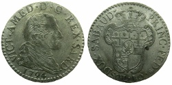 World Coins - ITALY.SAVOY.Vittorio Amadeo III AD 1773-1796.Billon 10 Soldi 1794.