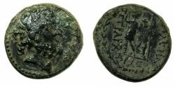 Ancient Coins - COELESYRIA.CHALCIS.Ptolemaios, Son of Mennaios Circa 85-40 BC.AE.18.9mm.