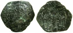 Ancient Coins - BYZANTINE EMPIRE.Michael VIII alone AD 1261-1272.AE.Trachy.Class X.Mint of CONSTANTINOPLE.