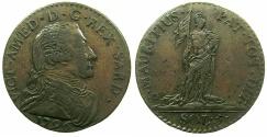 World Coins - ITALY.SAVOY.Vittorio Amadeo III AD 1773-1796.AE.5 Soldi 1796.