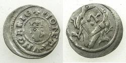 World Coins - HUNGARY.Stephen V AD 1270-1272.AR.Dinar. Reverse. Hebrew letter Alef.