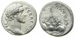 Ancient Coins - CAPPADODOCIA.CAESAREA-EUSEBIA.Antoninus Pius AD 138-161.AR.Didrachm, struck AD 139.~#~.Mount Argaeus.