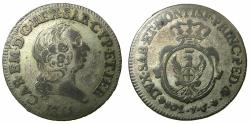 World Coins - ITALY.SARDINIA.Carlo Emanuele III 1730-1773.Billon. 7.6.1755.Soldi.Mint of TURIN.