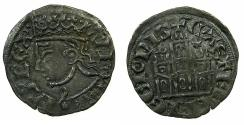 World Coins - SPAIN.Castille and Leon.Alfonso XI El Noble AD 1312-1350.Billon Coronado. Mint of BURGOS.Obverse Bust type 4.