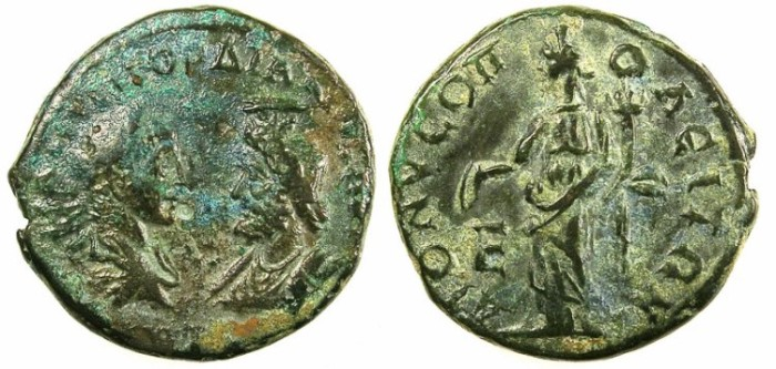 Ancient Coins - MOESIA INFERIOR.DIONYSOPOLIS.Gordian III AD 238-244.AE.5 Assaria.Homonia.