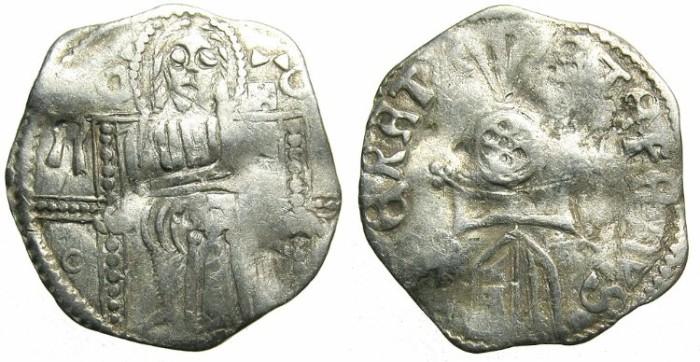 Ancient Coins - SERBIA.Stefan Uros IV Dusan as Emperor AD 1345-1355.AR.Dinar.Sigla R-(0)