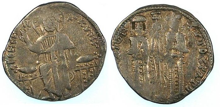 Ancient Coins - BYZANTINE EMPIRE.Andronicus II and Michael IX 1295-1320.AR.Basilikon 2.04g.Constantinople mint