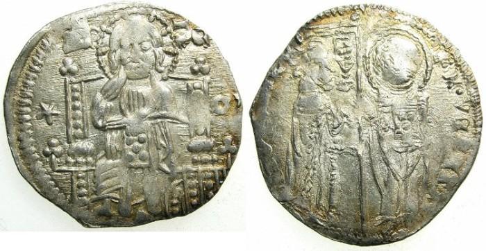 Ancient Coins - ITALY.VENICE.Antonio Venier 1382-1400.AR.Grosso.2nd type.Sigla M (Marco Baffo )