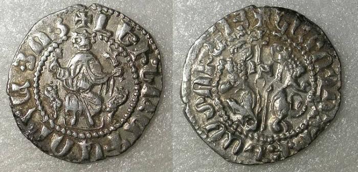 Ancient Coins - ARMENIA Levon I AD 1199-1219 AR Tram