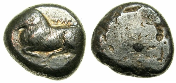 Ancient Coins - CYPRUS.SALAMIS.Euelthon c.560-525 BC.AR.Stater,posthumus issue struck c.515-480 BC.