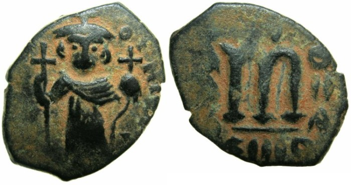 Ancient Coins - PSEUDO BYZANTINE.Imitation after Constans II ( AD 642-668 ).AE.Follis.