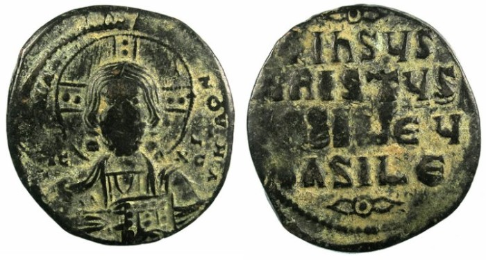 Ancient Coins - BYZANTINE EMPIRE.Anonymous Follis.class A3.Constantinople mint.