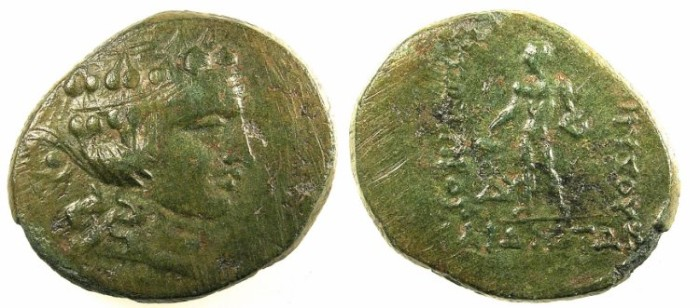 Ancient Coins - THRACE.Maroneia.After 146BC.AE.28.Young Dionysos.Rev.Naked Dionysos