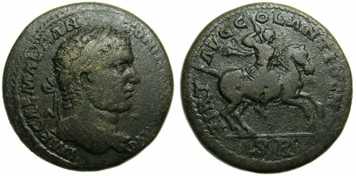 Ancient Coins - PISIDIA.ANTIOCH.Caracalla AD 198-217.AE.31.Emperor riding right.