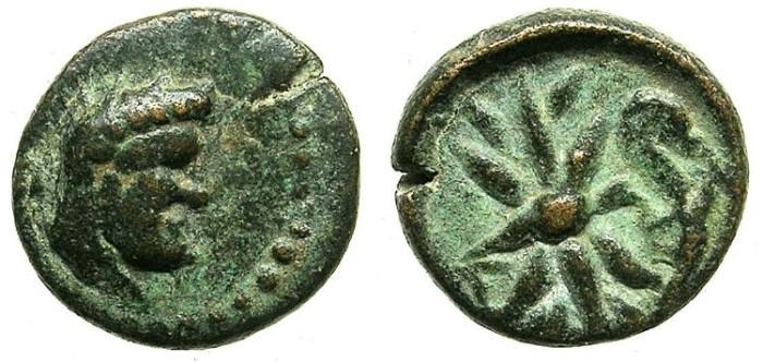 Ancient Coins - PISIDIA.SELGE.2nd - 1st Cent.BC.AE.13.Herakles.Thunderbolt.