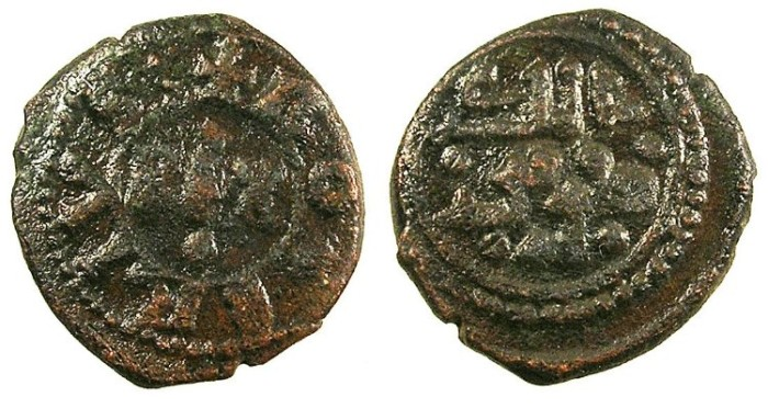Ancient Coins - ITALY.SICILY.Tancred AD 1189-1194.AE.Follaro
