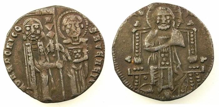 Ancient Coins - ITALY.VENICE.Pietro Gradenico AD 1289-1311.AR.Grosso