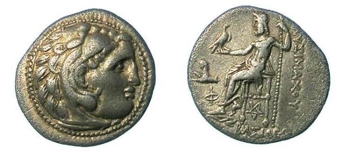 Ancient Coins - Thrace Lysimachus 305-281 BC AR Drachma.Colophon mint.Herakles / Zeus