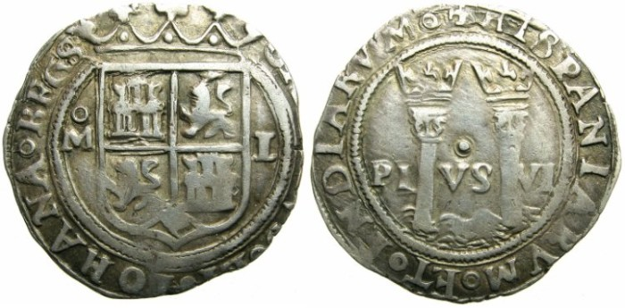Ancient Coins - MEXICO, under SPAIN.Joanna and Charles AD 1504 and 1516-1555.AR.Real, N.D.Mint of MEXICO CITY.