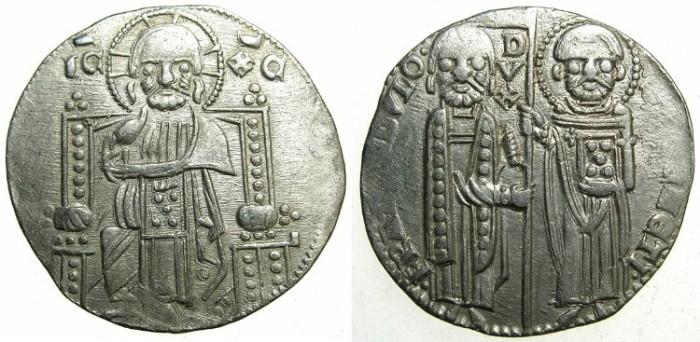 Ancient Coins - ITALY.VENICE.Francesco Dandolo AD 1328-1339.AR.Grosso.