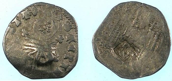 Ancient Coins - SERBIA.Stefan VIII Uros IV Dusan , as Emperor 1346-1355.AR.Dinar.c/m Bird