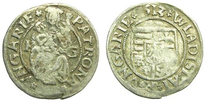 Ancient Coins - HUNGARY.Wladislaw II AD 1490-1516.AR.Denar 1513.Kremnitz  mint.