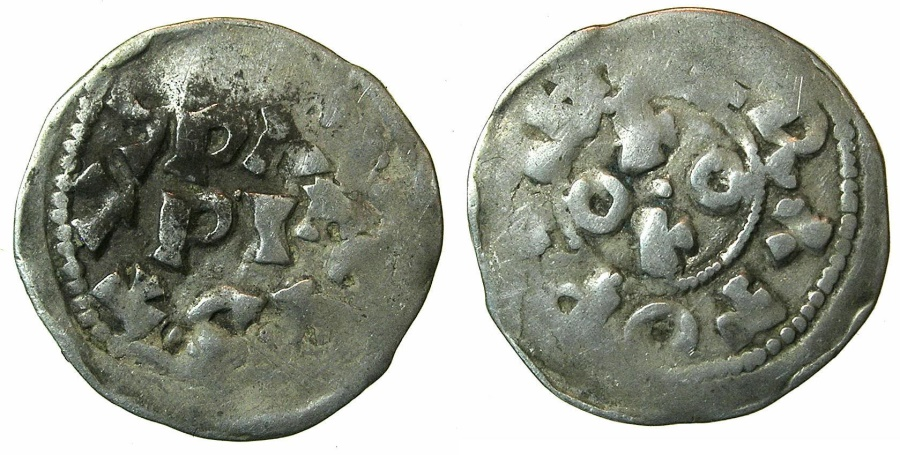 World Coins - ITALY.PAVIA.Ottone I di Sassonia AD 962-973.AR.Denaro.