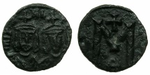 Ancient Coins - BYZANTINE EMPIRE.SICILY.Michael II AD 820-829 with Theophilus associate from AD 821.AE.Follis.Mint of SYRACUSE.