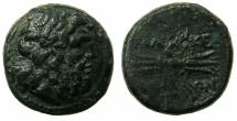Ancient Coins - MACEDON.Philip V or Perseus 221-179-167 BC.AE.22mm.Laurate Zeus.~#~.Thunderbolt.