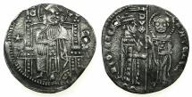 World Coins - ITALY.VENICE.Antonio Venier 1382-1400.AR.Grosso.2nd type.Sigla R